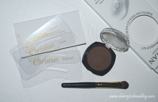 Christian Eyebrow Kit content, Christian Eyebrow Kit Review