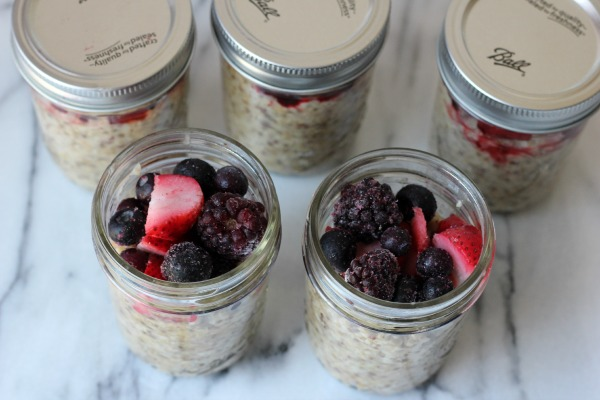 Steel Cut Oats and Berries in a Jar by Me and My Pink Mixer