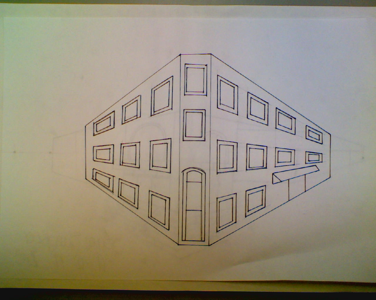 Sam Sangster Two Point Perspective City Building Drawing