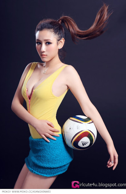 1 To Xinwei - Football Baby-very cute asian girl-girlcute4u.blogspot.com