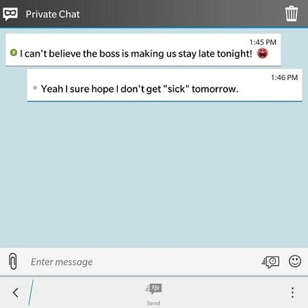 Private Chats BBM material design
