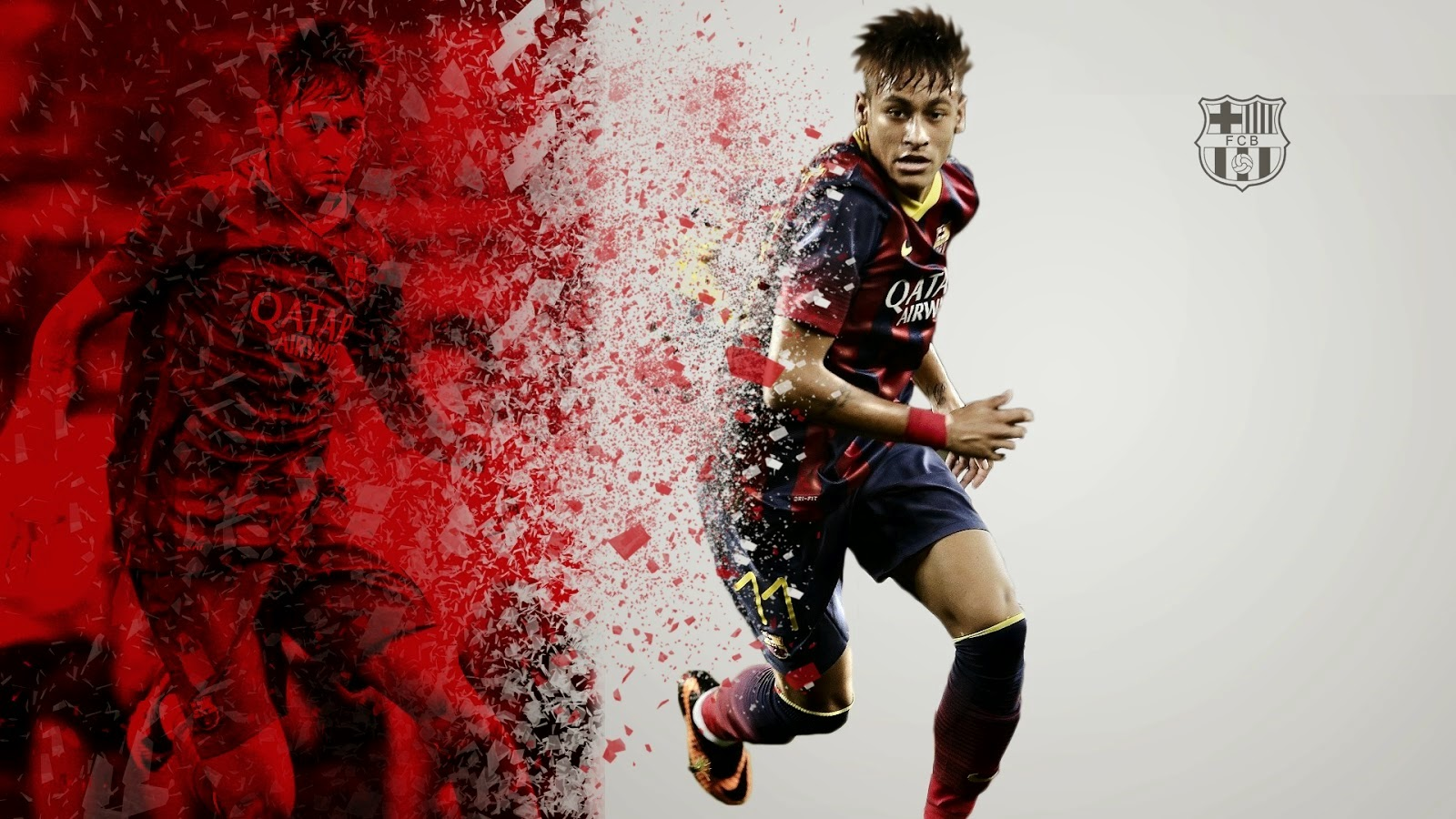 Football World Neymar Jr Fc Barcelona Latest Hd Wallpapers 2014