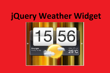 5. jQuery weather widget