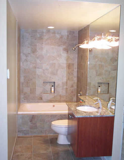 Small bathroom design ideas for Small restroom ideas