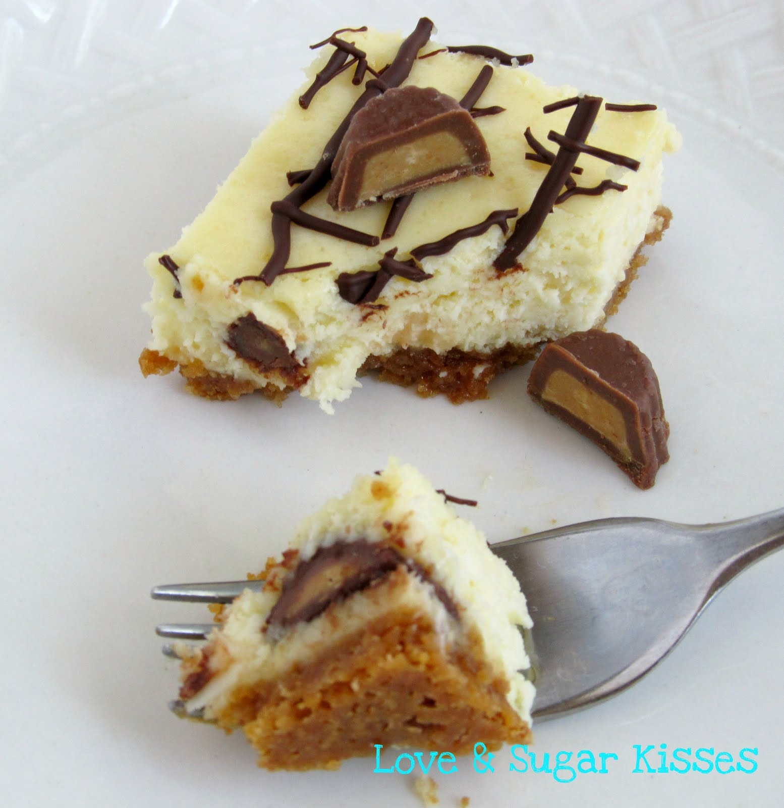 Love & Sugar Kisses: Peanut Butter Cup Cheesecake Bars