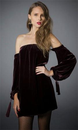 NK Store coleção inverno TalieNK 2014 vestido veludo