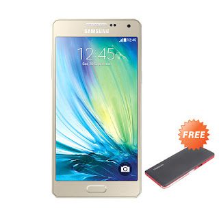 Samsung Galaxy A5 Gold Smartphone + Powerbank 11.000 mAh