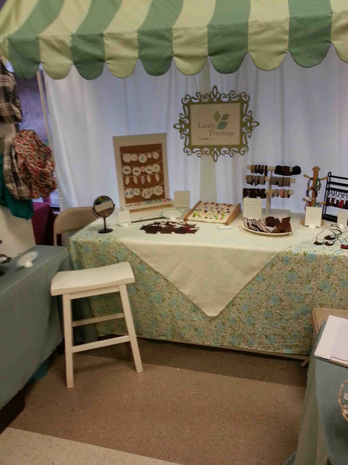 Made by me shared with you first time craft fair for How to set up a booth at a craft show