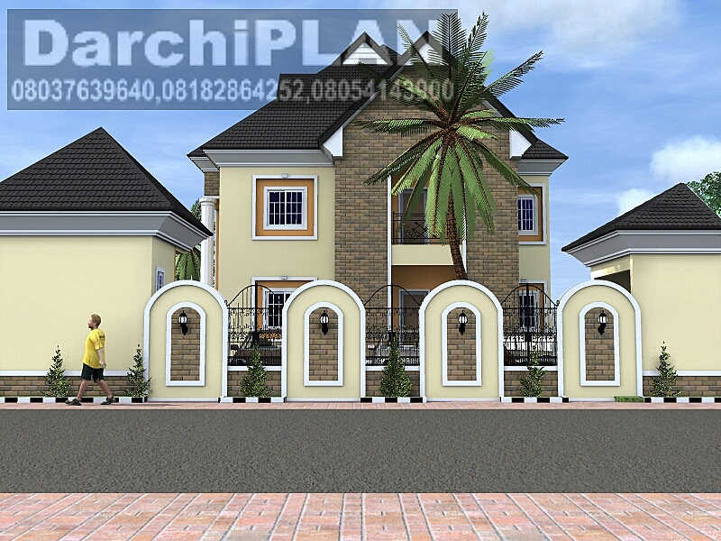 Nigeria Building Style Architectural Designs By Darchiplan Homes Six Bedroom Duplex