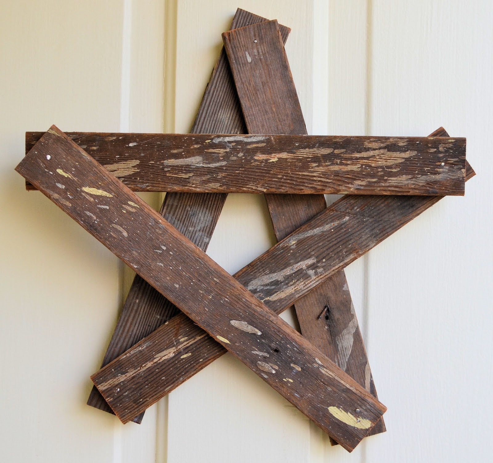 Shabby love repurposed wood star for Reusable wood