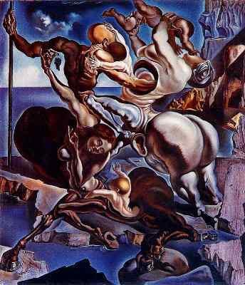 Salvador Dalí Familia de centauros marsupiales