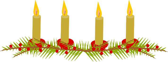 Christmas Advent Candle Clip Art Time to get cosy: free scrap holiday ...