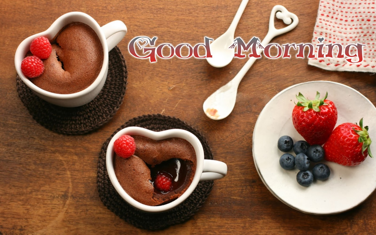 Good-Morning-Wishes-Wallpaper-With-Strawberry-Image-HD-Wide