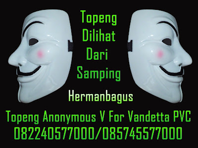 Jual Topeng Anonymous V For Vandetta PVC Warna Putih