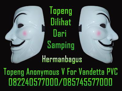 Jual Topeng Anonymous V For Vandetta PVC Warna Putih