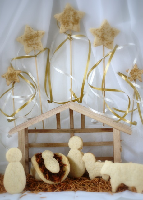 Alice And The Mock Turtle Cookie Nativity With Cream Cheese Cookie