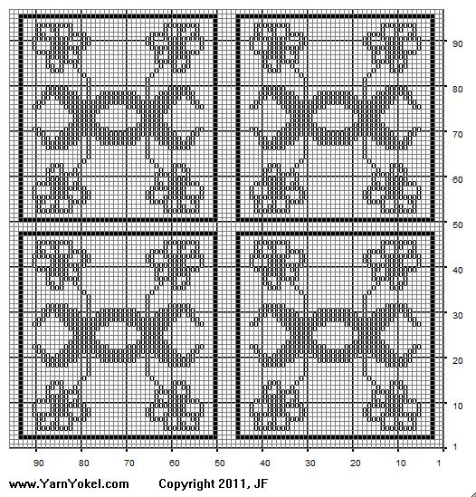 Crochet Patterns Graphs Free : Thrifty Crocheter: Crochet Flower Pattern, Free crochet chart