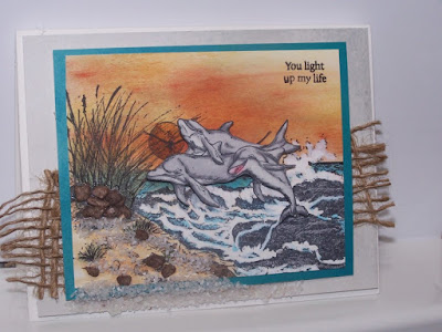 ODBD The Mighty Sea, ODBD Under the Sea, ODBD Mini Tag Sentiments, ODBD Customer Card of the Day by Jan Keen