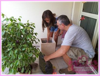 Criança e jardinagem