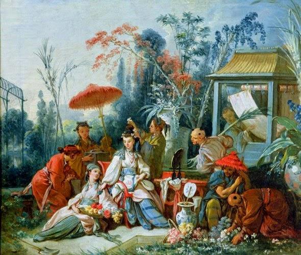 Le jardin chinois - François Boucher
