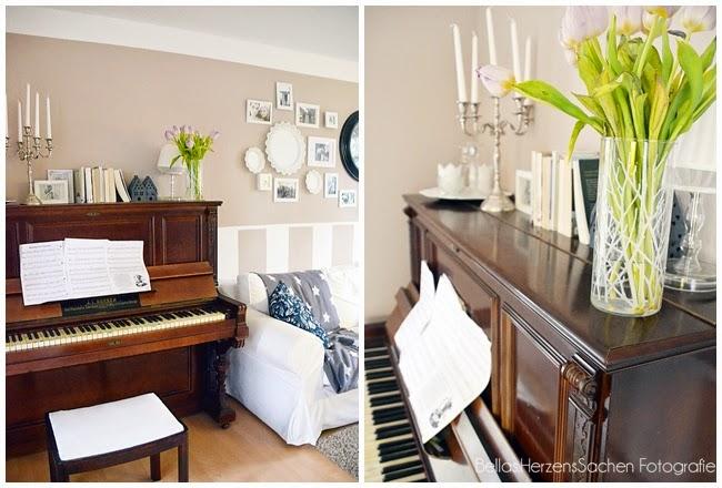 Klavier Herzenssachen Blumen