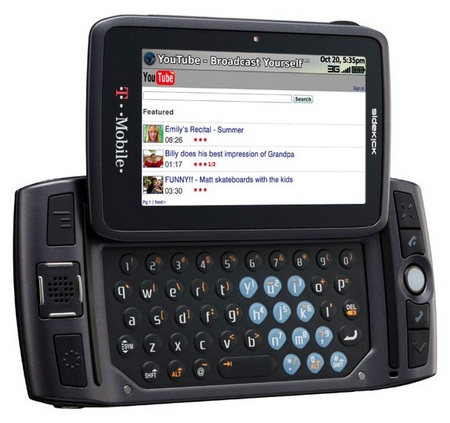 the new sidekick touch screen. new sidekick touch. the