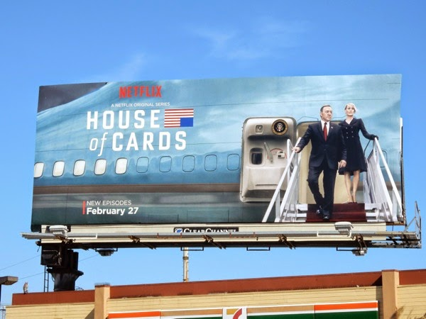 House of Cards season 3 Air Force One billboard