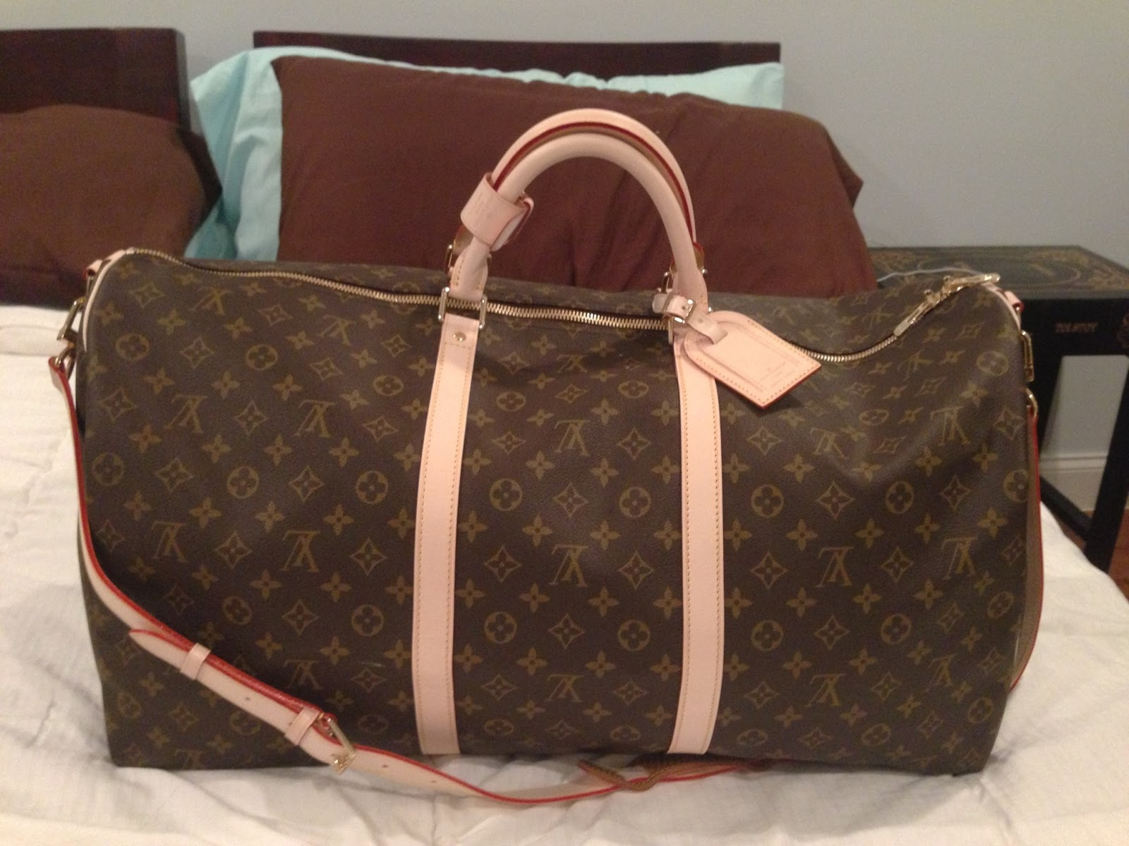 purse princess replica louis vuitton monogram keepall 60 by kate. Black Bedroom Furniture Sets. Home Design Ideas
