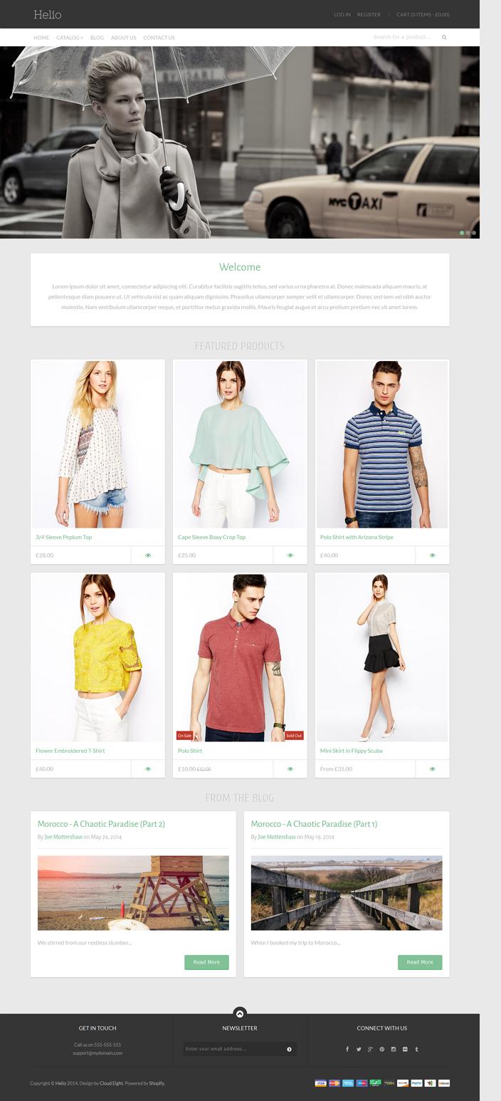 Helio Responsive Shopify Theme