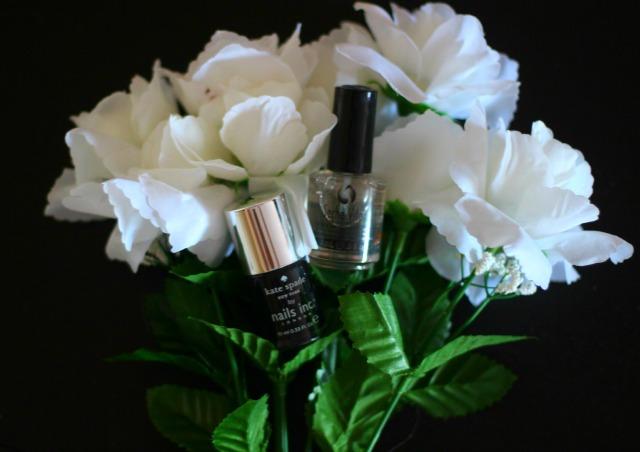 kate spade, nails inc, new york noir, glossy black nail polish,