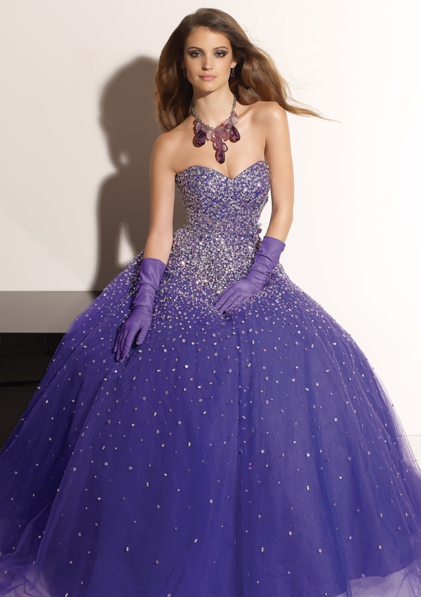 Purple Wedding Dresses For  : Wedding lady purple dress ideas