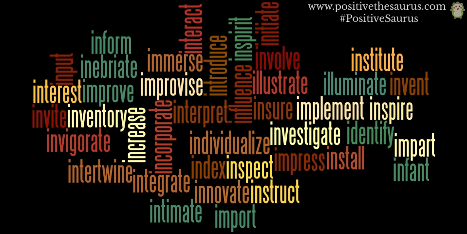 positive verbs that start with i