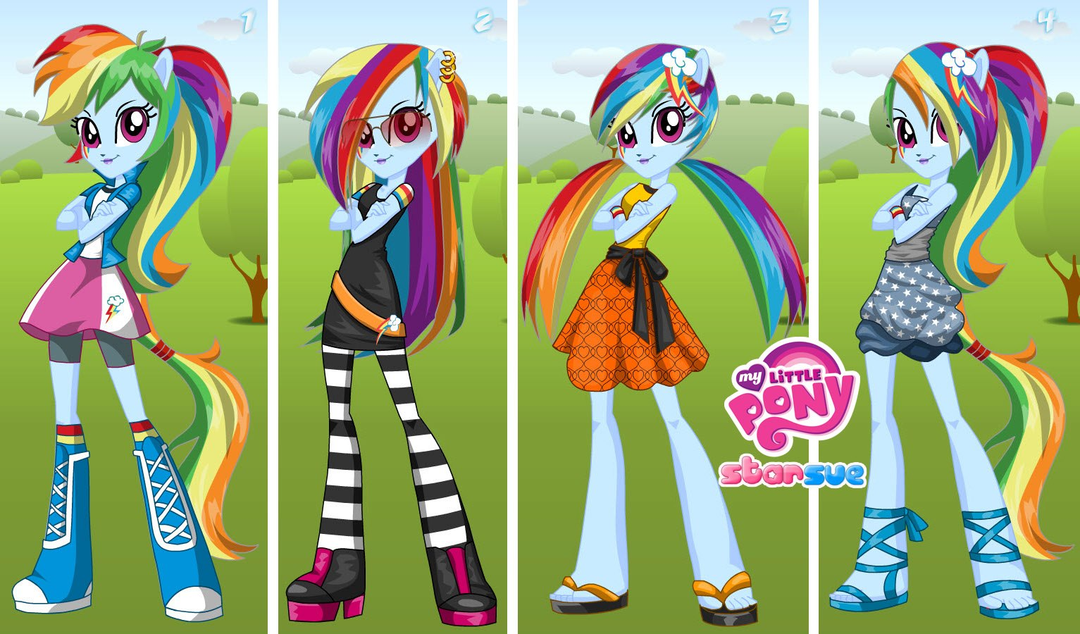 games my little pony dress up