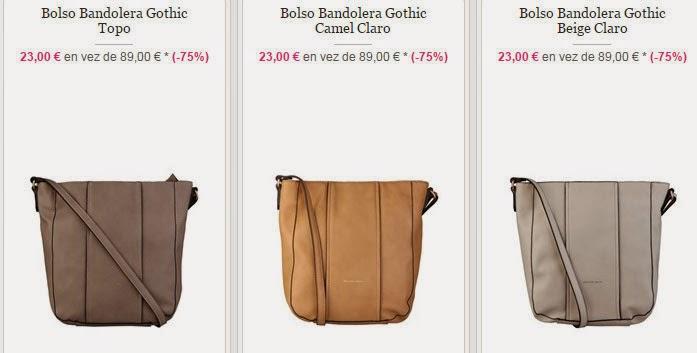 Tres de los muchos modelos de bolsos tipo bandolera que encontrarás dentro