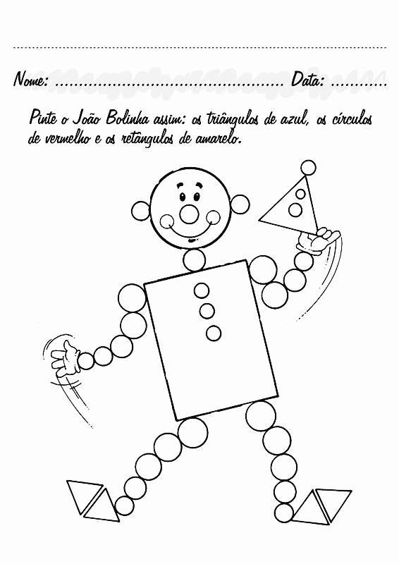 Atividades De Educa    O Infantil   Formas Geom  Trica