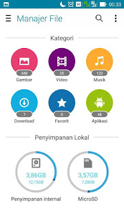 Manager File BETA Asus Zenfone 5