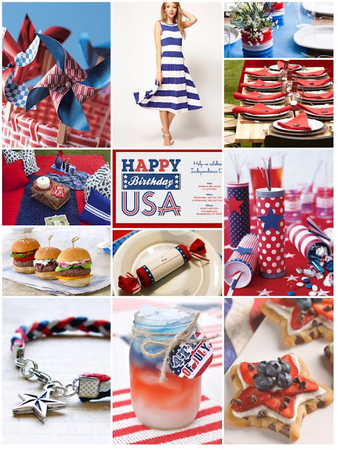 4th of July Inspiration Board | Cordier Event Planning