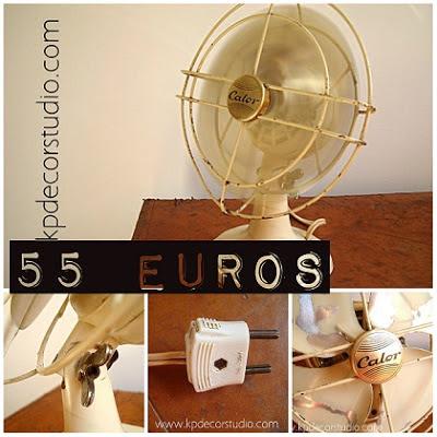 comprar ventilador antiguo para decoracion vintage