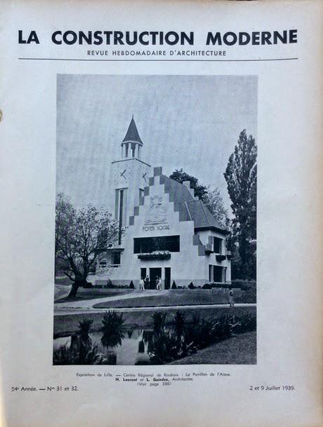 L 39 exposition du progr s social en 1939 lille et roubaix for Pavillon moderne construction