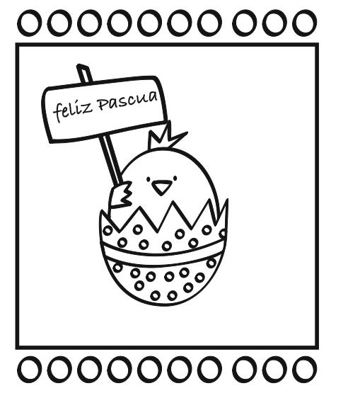 dibujo de Pascua niños