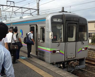 清音駅で井原鉄道に