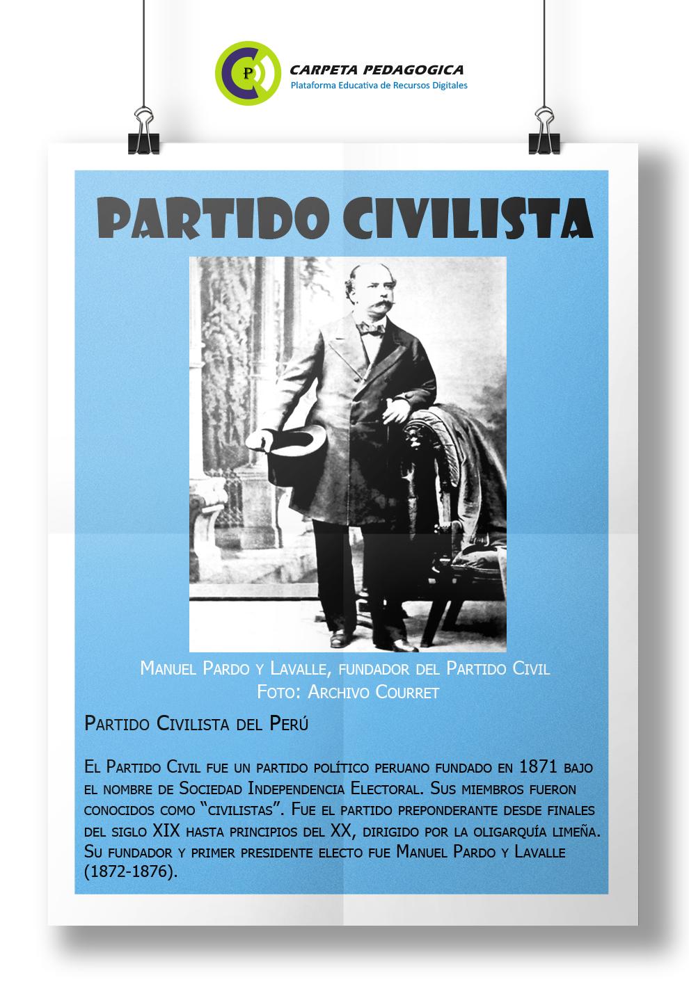 Partido Civil del Perú - Manuel Pardo y Lavalle