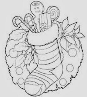desenho de guirlanda de natal para pintar