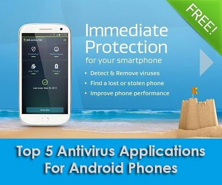 top 5 antivirus applications for android phones techblogsearch