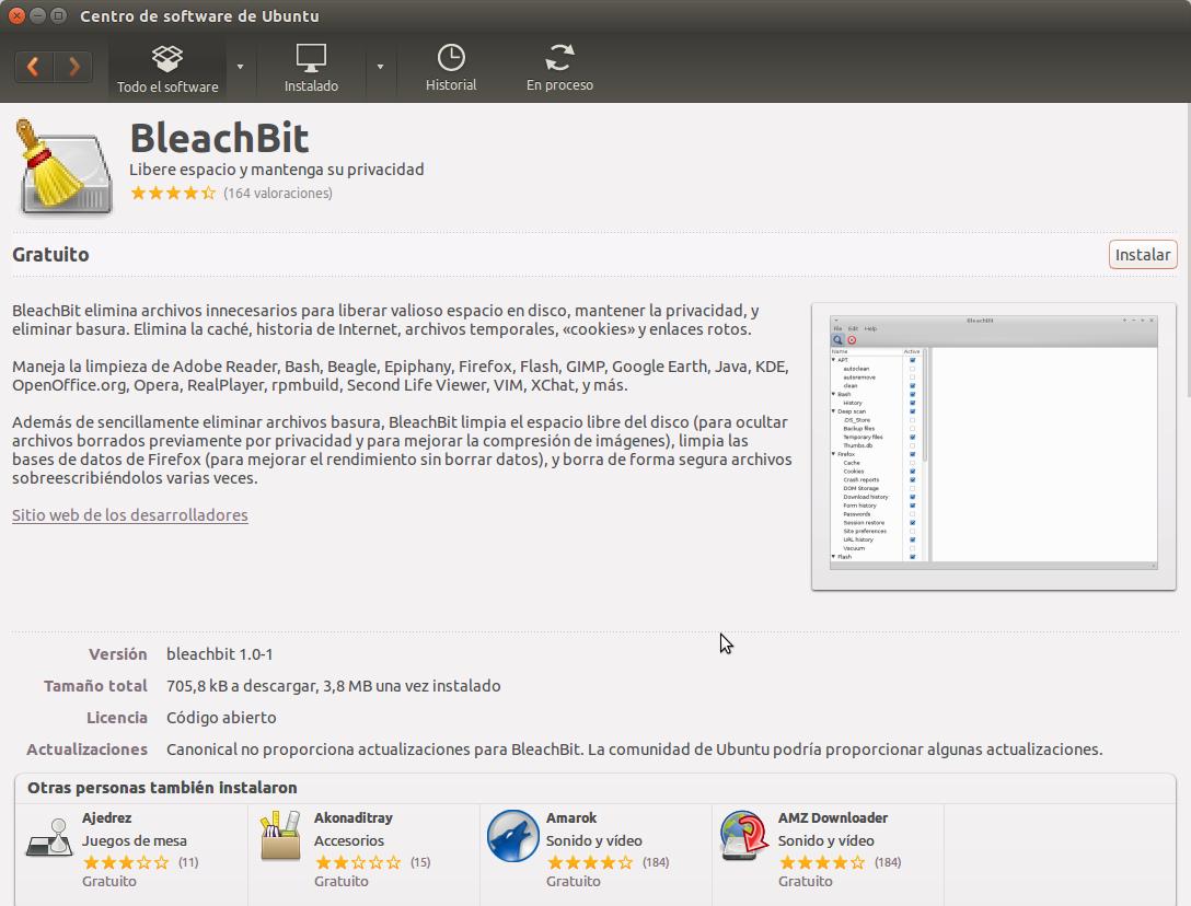BleachBit, el CCleaner de Ubuntu, limpiar ubuntu,
