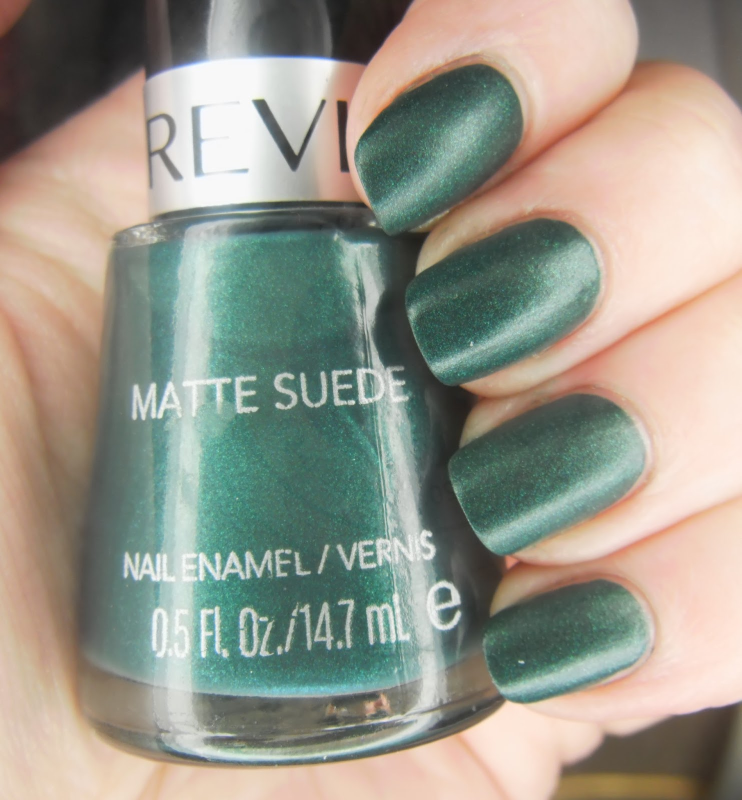 Suede Nail Polish: SpecialGirl Nails: Green Week: Revlon Matte Suede Emerald City