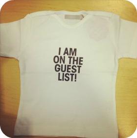 Imps & Elfs I'm on the guest list t-shirt