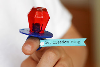 Let Freedom Ring ring pop by Lisa Storms.