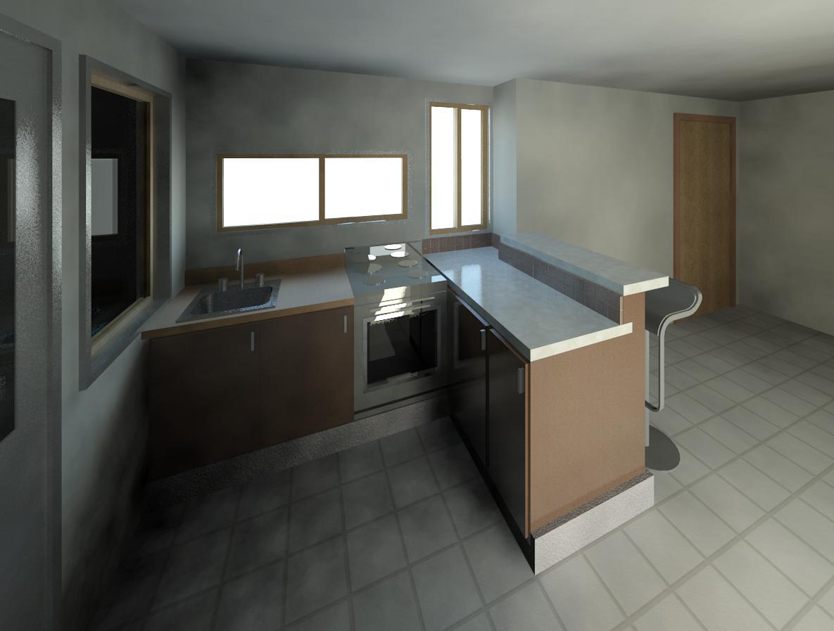 Dibujando planos propuesta de dise os para barra cocina for Disenos de barras para cocina