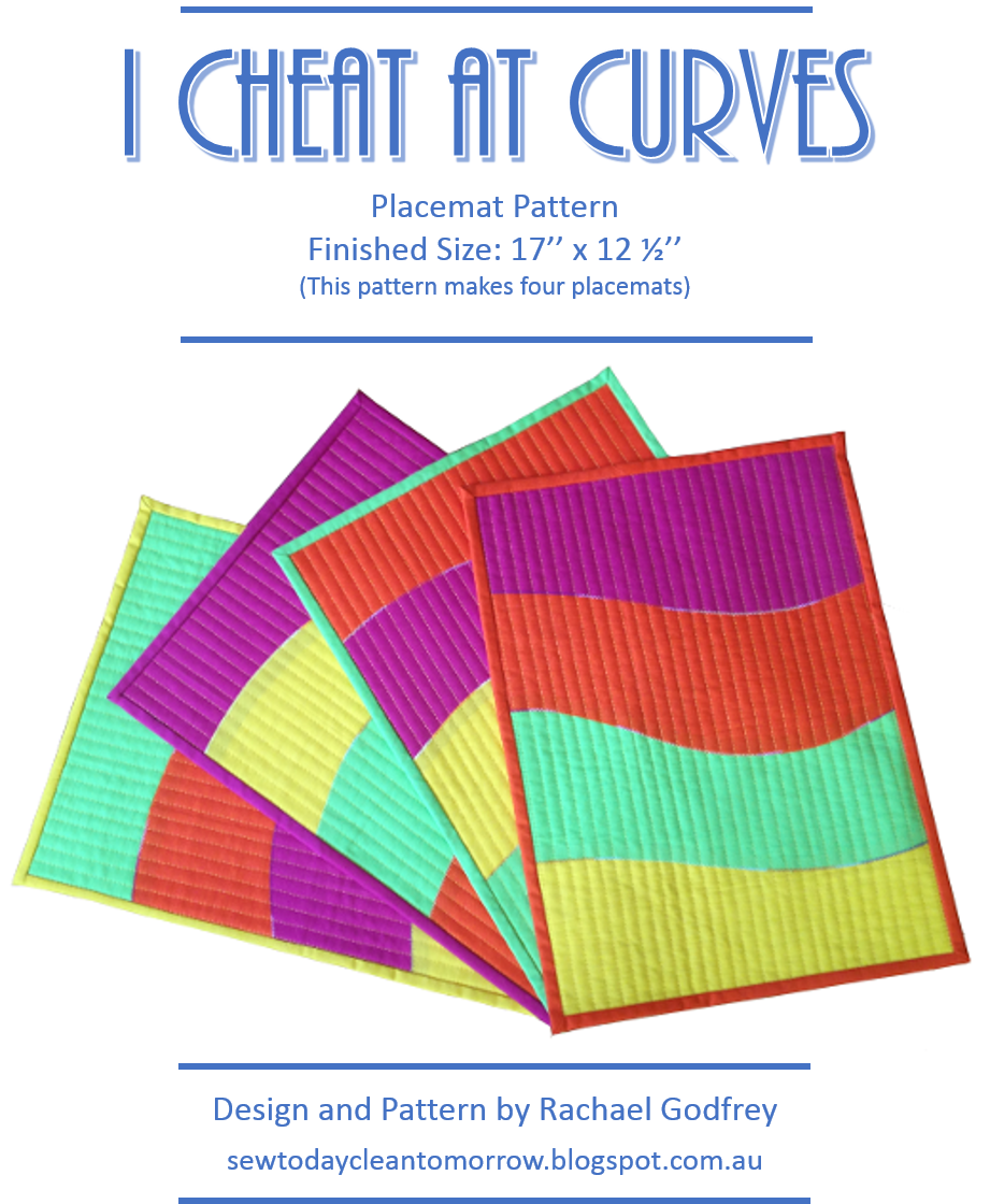 I Cheat At Curves Placemat Tutorial Sew Today Clean